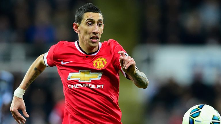 NEWCASTLE UPON TYNE, ENGLAND - MARCH 04:  Manchester United player Angel Di Maria in action during the Barclays Premier League match between Newcastle Unit