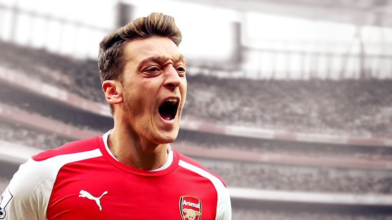 Mesut Ozil became the first man to assist a goal in six consecutive games in a Premier League season