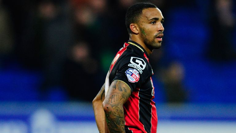 Bournemouth striker Callum Wilson bewildered and on his knees in Cardiff on Tuesday