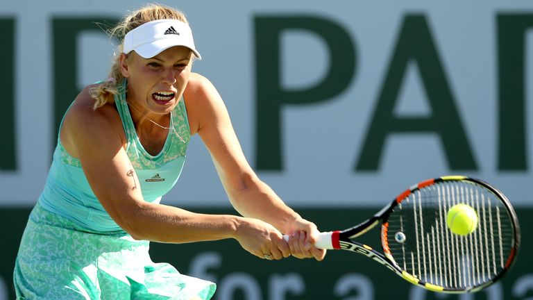 Caroline Wozniacki suffered an early exit from Indian Wells