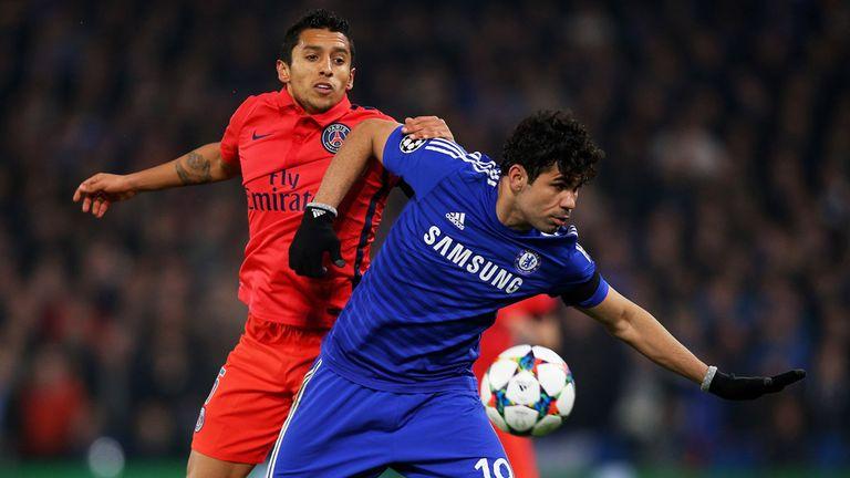 Diego Costa holds off  Marquinhos