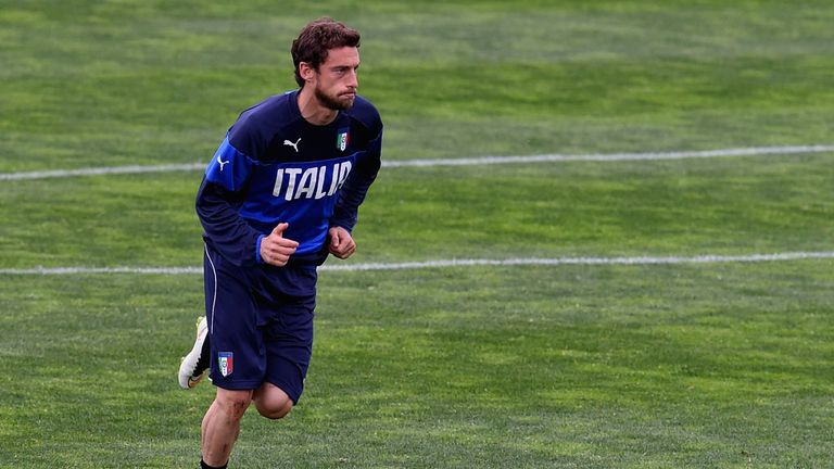 Claudio Marchisio during an Italy training session