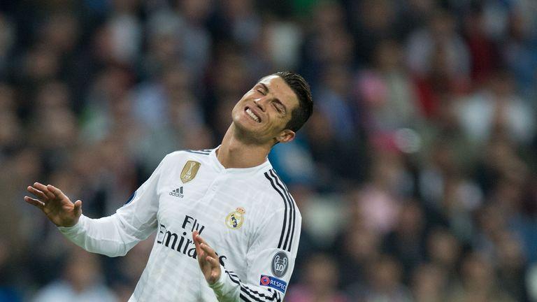 Cristiano Ronaldo of Real Madrid CF reacts