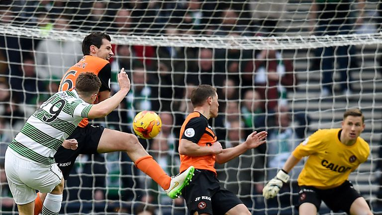 Celtic's James Forrest scores their second goal