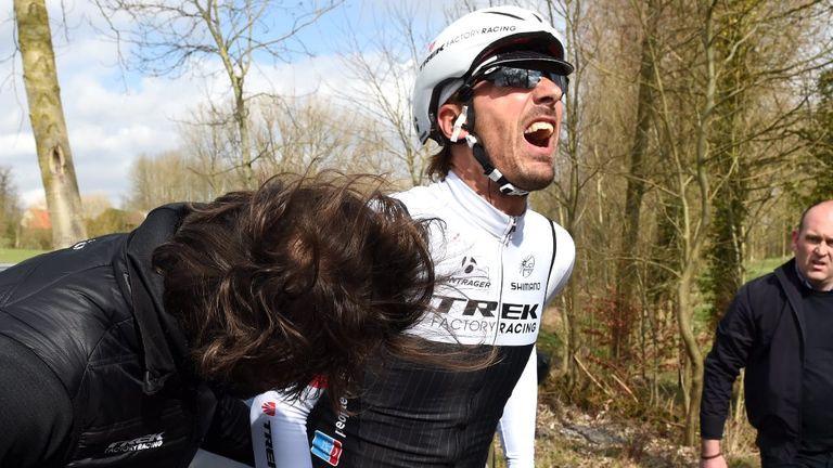 Fabian Cancellara broke his back in a crash at E3 Harelbeke