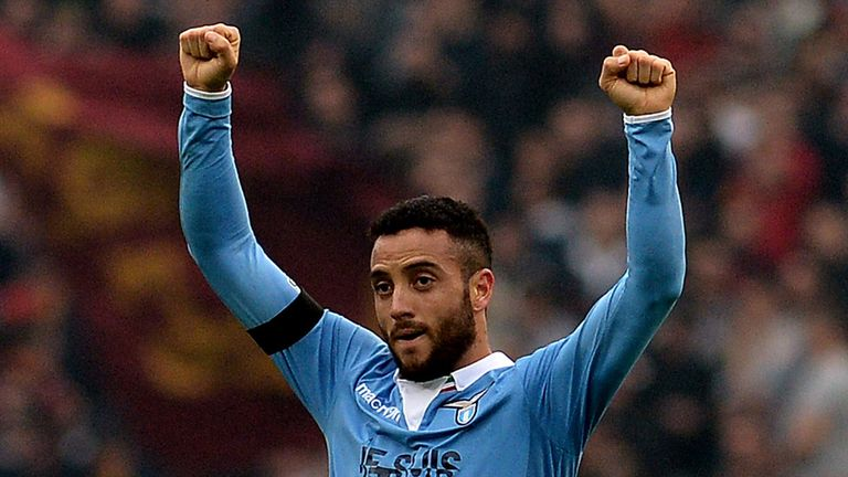 Felipe Anderson: Midfielder celebrates scoring for Lazio
