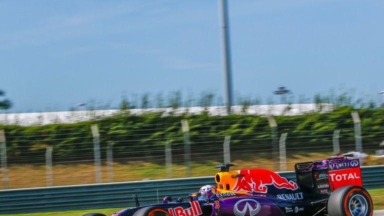 Daniel Ricciardo in action in Malaysia