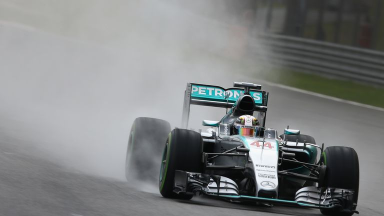 Lewis Hamilton excelled in the rain