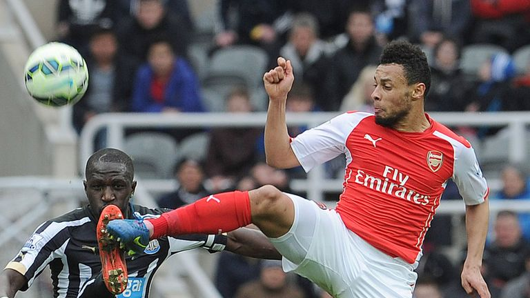 Francis Coquelin in action for Arsenal against Newcastle