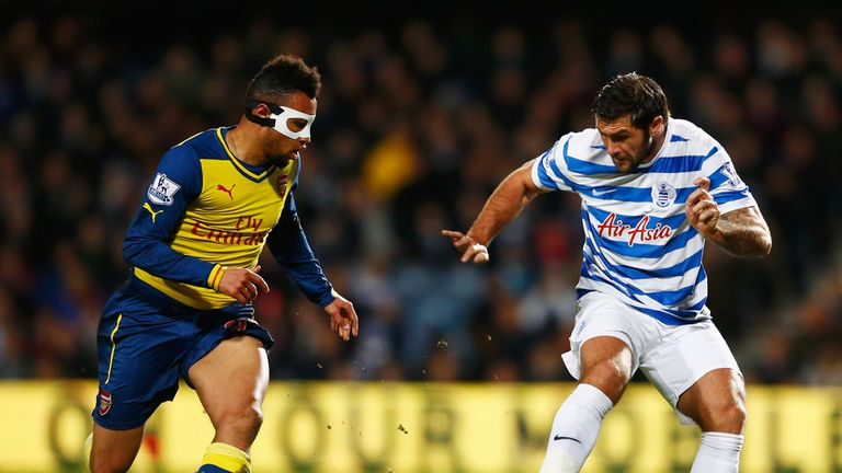 Francis Coquelin had a battle on his hands in midfield but Arsenal rode the storm well
