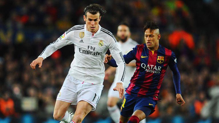 Gareth Bale is chased by Neymar