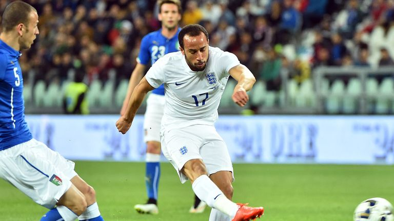 Andros Townsend scores for England against Italy