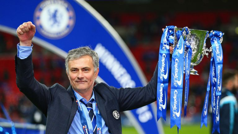 Manchester United manager Jose Mourinho won the EFL Cup with Chelsea three times, most recently in 2015
