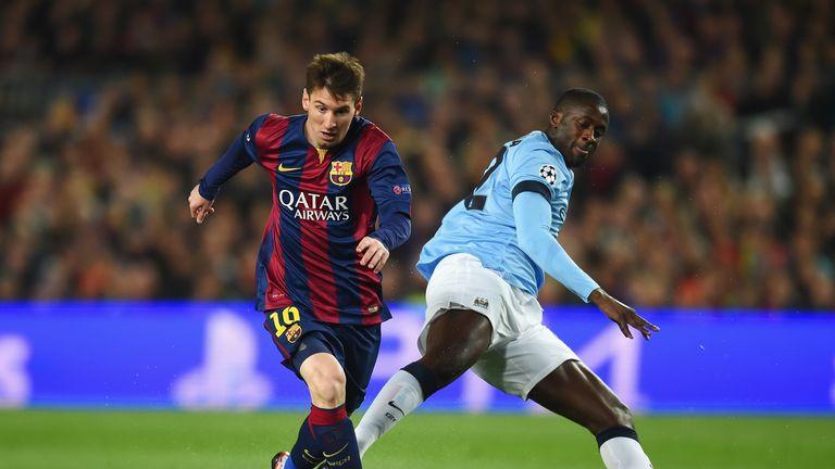 Lionel Messi and Yaya Toure