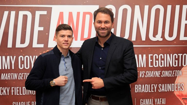 Eddie Hearn (right) is excited by the prospects for 'Britain's greatest ever amateur'