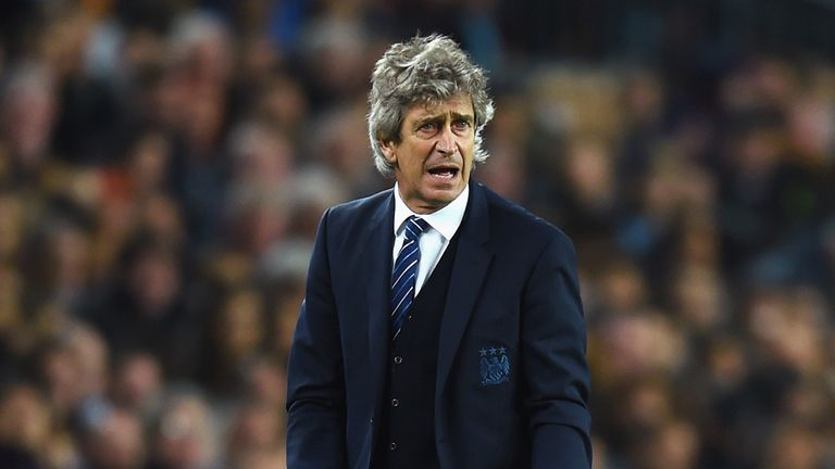 BARCELONA, SPAIN - MARCH 18: Manuel Pellegrini, coach of Manchester City reacts during the UEFA Champions League Round of 16 second leg match between Barce