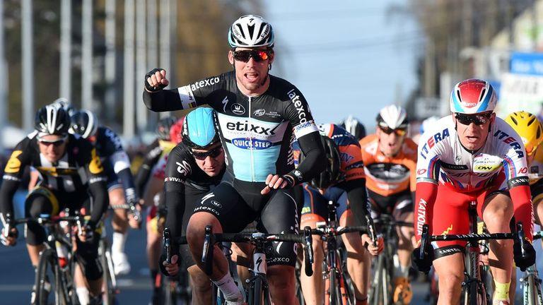 Mark Cavendish sprinted to victory at Kuurne-Brussels-Kuurne