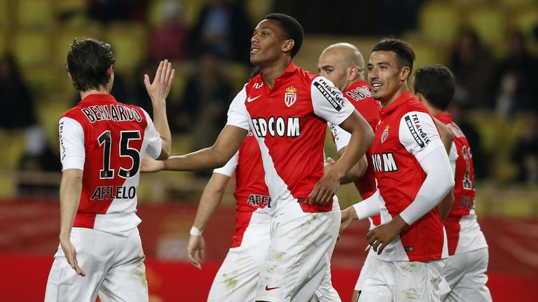 Monaco's French forward Anthony Martial has extended his deal by a further year