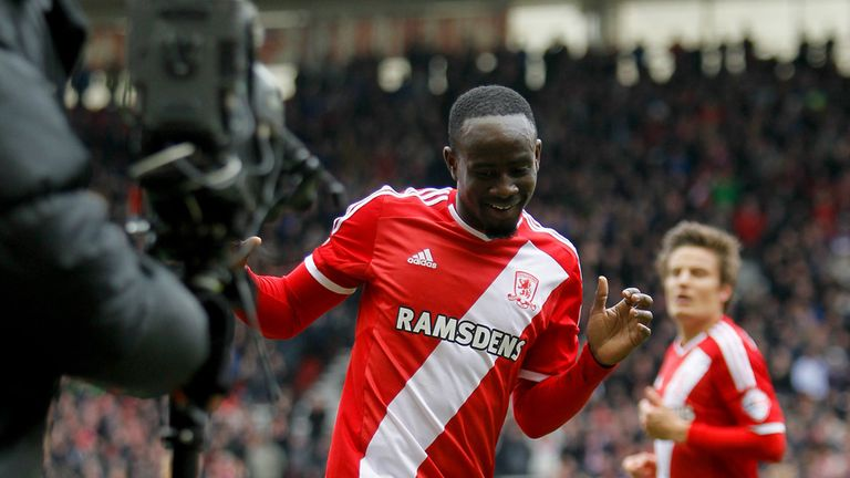 Albert Adomah is alleged to have clashed with Aitor Karanka after Middlesbrough's defeat to Bristol City
