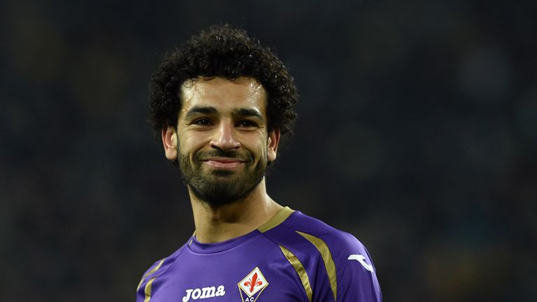 TURIN, ITALY - MARCH 05:  Mohamed Salah of ACF Fiorentina looks on during the TIM Cup match between Juventus FC and ACF Fiorentina at Juventus Arena on Mar