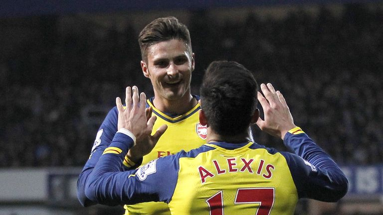 Olivier Giroud and Alexis Sanchez were both on target for Arsenal in a hard-fought win
