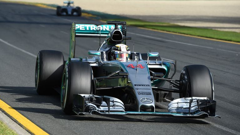 Lewis Hamilton: On his way to victory for Mercedes