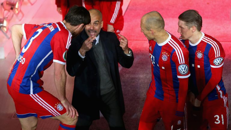 Guardiola has challenged his Bayern players in new ways since taking over