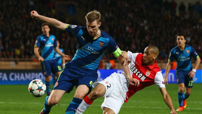 Arsenal were eliminated from the Champions League by Monaco