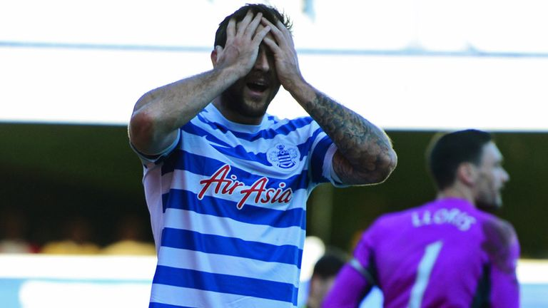 Charlie Austin missed two good chances in the first half