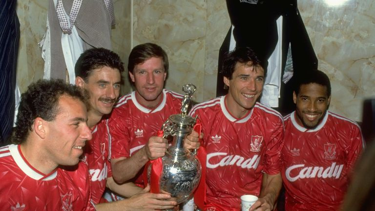 Liverpool celebrate their last last league title win on April 28 1990