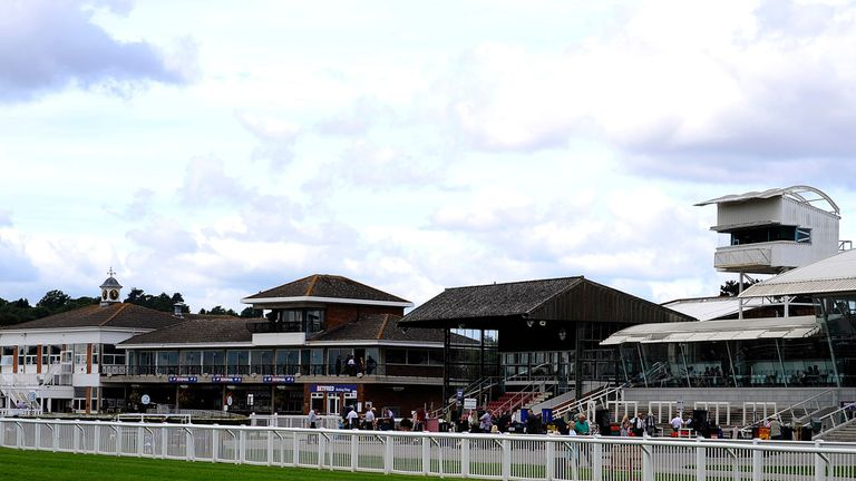 A general view of the grandstands at Stratford-upon-Avon racecourse