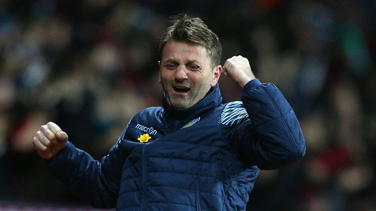 Tim Sherwood will be looking to inspire Villa to victory at Old Trafford.