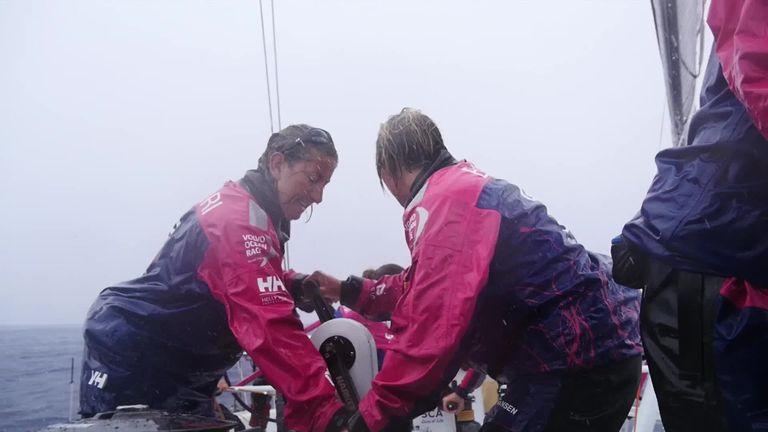 Dee Caffari and Wardley were both part of Team SCA in the last Volvo Ocean Race
