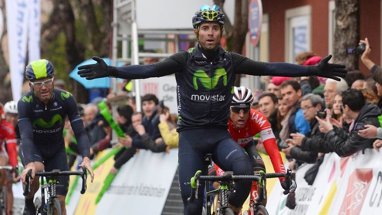 Alejandro Valverde sprinted to victory on stage two