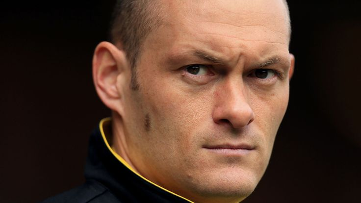 Norwich City Manager Alex Neil on the touchline before the Sky Bet Championship fixture at Carrow Road, Norwich.
