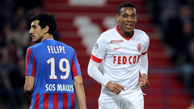 Monaco's French forward Anthony Martial (right) opens talks with Spurs over move to White Hart Lane