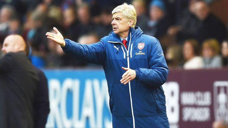 Arsene Wenger during Arsenal's win at Burnley