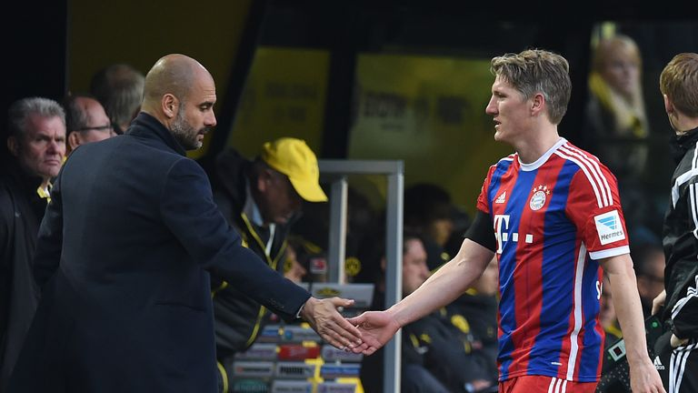 Pep Guardiola claimed Schweinsteiger was not always fit during at Bayern