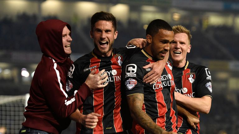 Callum Wilson: Celebrates his goal for Bournemouth