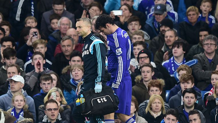 Diego Costa limps off against Stoke
