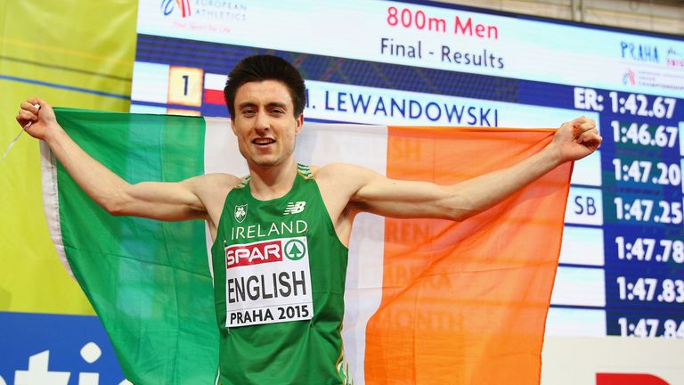 Mark English: Pipped by Poland's Marcin Lewandowski for gold in Prague in March