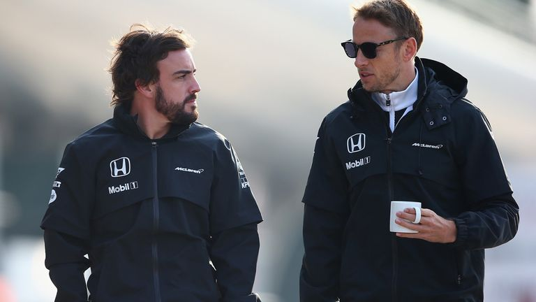 Fernando Alonso and Jenson Button