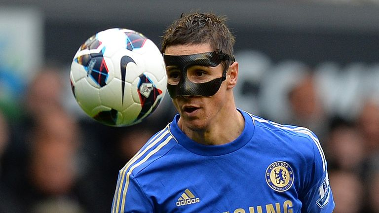 Chelsea's Spanish striker Fernando Torres controls the ball during the English Premier League football match between Liverpool and Chelsea at the Anfield s