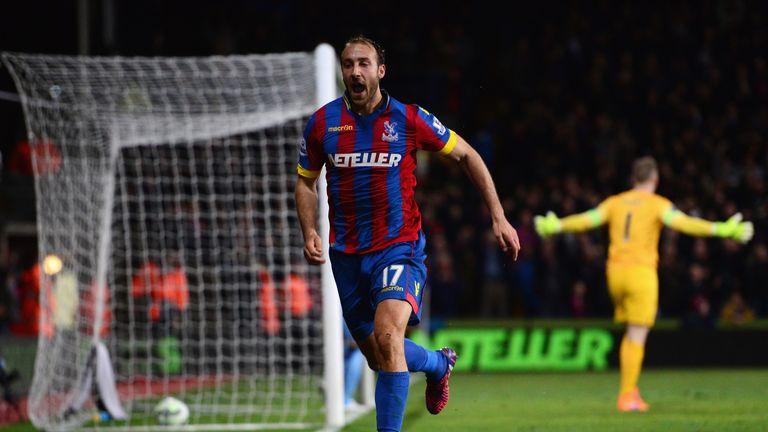 Glenn Murray of Crystal Palace celebrates scoring