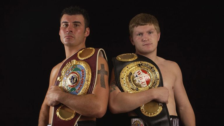Joe Calzaghe and Ricky Hatton: before their fights in Newcastle.