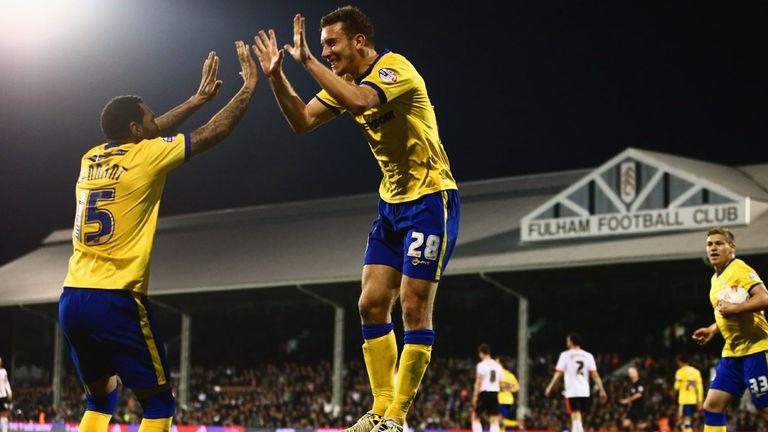 Jason Pearce: Celebrates Wigan's second goal