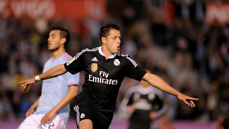Javier Hernandez's two goals helped Real to a 4-2 win at Celta Vigo