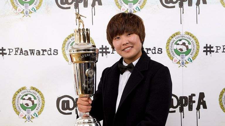 Ji So-Yun: Chelsea star is honoured at PFA awards