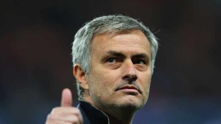 Jose Mourinho manager of Chelsea gives a thumbs up prior to the UEFA Champions League Round of 16 match v Paris Saint-Germain