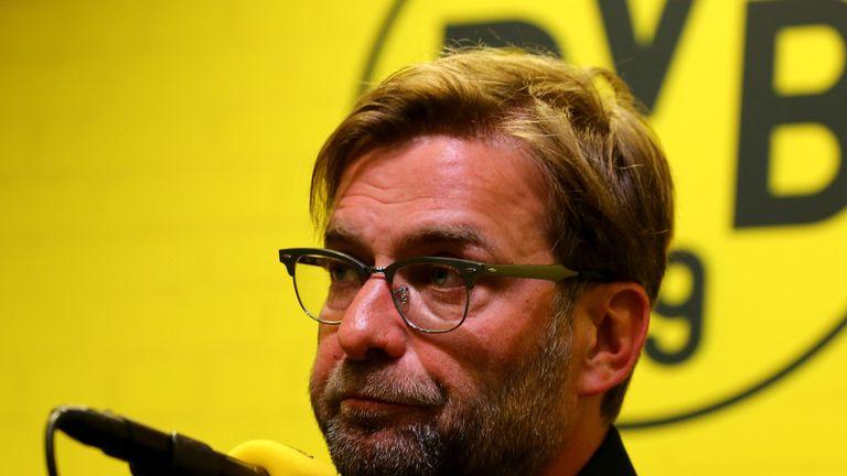 Dortmund manager Jurgen Klopp